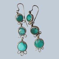 Early Navajo Turquoise Earrings