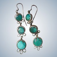 Early Navajo Turquoise Earrings
