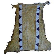 Beaded Hide Lakota Sioux (Brule) Leggings  1870