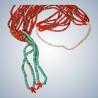 Pueblo Natural Red Coral Necklace With Jaclas