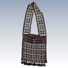 Early Great Lakes Potawatomi Bandolier Shoulder Bag