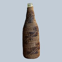 1890's Pit River Twined Basket Bottle
