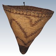 Incredible 1870's Pit River Burden Basket