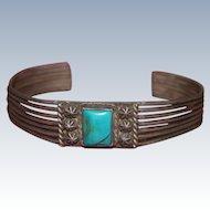 Bisbee Turquoise Navajo Cuff 1910