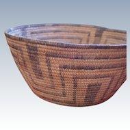 """Large Pima 1920's 11 1/2"""" Basket Bowl"""