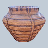 Huge Early Pima Olla Basket