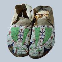 Early Reservation Lakota Moccasins