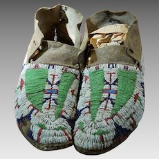 Early Reservation Lakota Moccasins