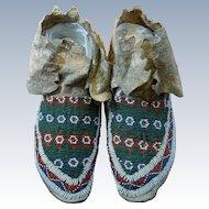 Kiowa Men's Moccasins 1890's