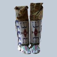 Lakota Women's Legging And Moccasin Set  Turn Of The Century