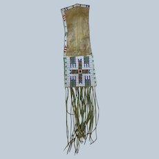 Southern Cheyenne Beaded Pipe Bag 1870's