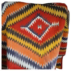 1880's Navajo Serape Transitional Blanket