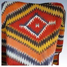 1880's Navajo Serape Transitional Blanket