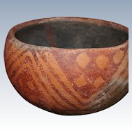 "Hohokam Red On Orange Ware 5"" Bowl 800-1200 AD"