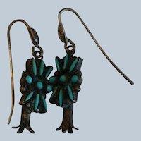 Zuni Squash Blossom Earrings