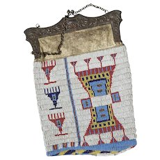 1890  Sioux Beaded Purse