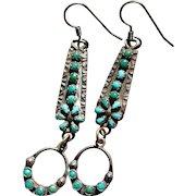 Turquoise Watch Band Earrings