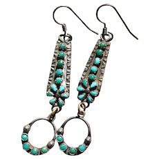 Turquoise Watch Band Earrings