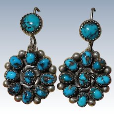 Vintage Bisbee Turquoise Earrings