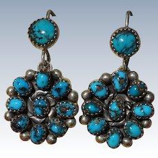 Vintage Bisbee Turquoise Earrings