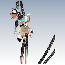 Mosaic Inlay Mountain Spirit Dancer Bolo Tie