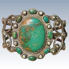 Vintage Cerrillos Turquoise Bracelet