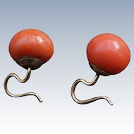 Antique Coral Earrings