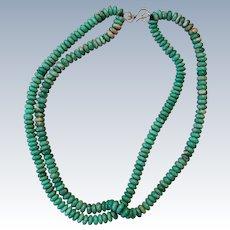 Broken Arrow Turquoise Bead Necklace