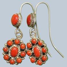 Oxblood Coral Earrings