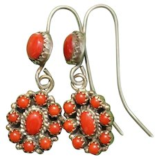 Oxblood Coral Earrings