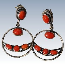 Vintage Coral Earrings