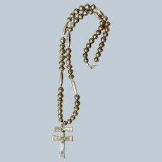 Navajo Double Cross Pendant Necklace