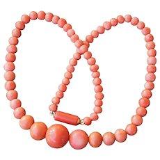 Orange Coral Victorian Necklace