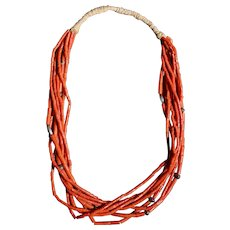 Eight Strand Coral Necklace