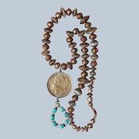 Vintage Morgan Dollar Pendant Necklace