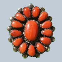 Vintage Red Coral Ring