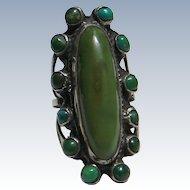 Vintage Cerrillos Turquoise Satellite Ring