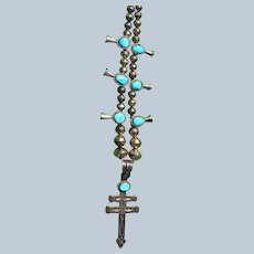 Vintage Navajo Dragonfly Cross Necklace