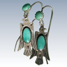 Fred Harvey Thunderbird Earrings