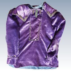 Navajo Child's Blouse 1950's With Silver Buttons