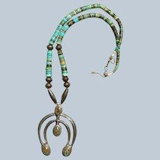 Vintage Naja Turquoise Necklace