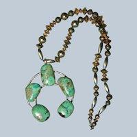 Royston Turquoise Naja Pendant Necklace