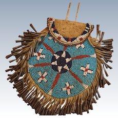 Jicarilla Apache Beaded Peyote Pouch 1880's