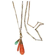Necklace With Antique Drops