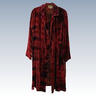 Tie-Dyed Silk Velvet Coat