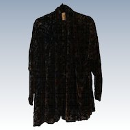 Silk Velvet Burnout Jacket