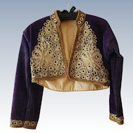 Purple Velvet Turkish Bolero Jacket