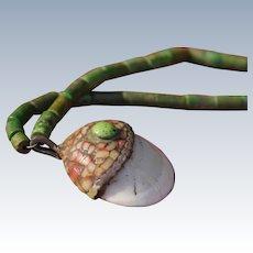 Santo Domingo Shell Pendant Necklace