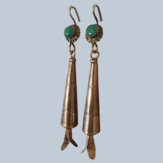 Vintage Long Squash Blossom Earrings