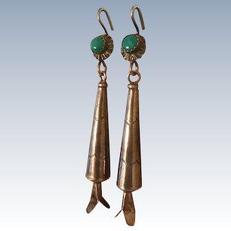 Vintage Long Squash Blossom Earrings